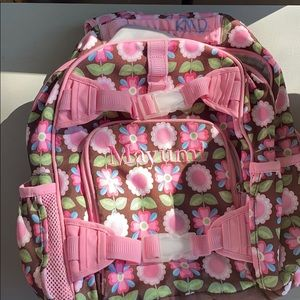 Girl's backpack customized with the name Mayumi